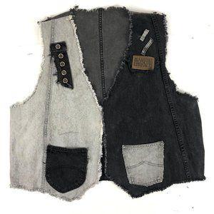 90' Vintage Levis Patchwork Unisex Denim jean Vest